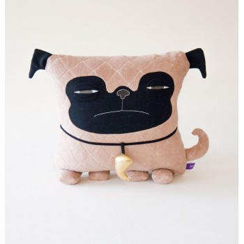 Coussin Pug - Velvet Moustache
