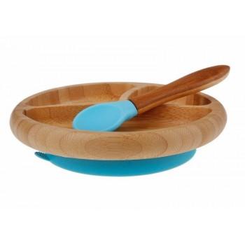 Assiette Et Cuillière Bleu - Avanchy