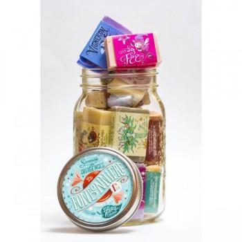 Bonbonnière Pot Masson 600g - mini savons - Savonnerie des Diligences