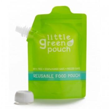 4 Pochettes à aliments réutilisables 7oz - Little Green Pouch