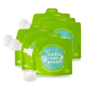 6 Pochettes à aliments réutilisables 3.4oz - Little Green Pouch
