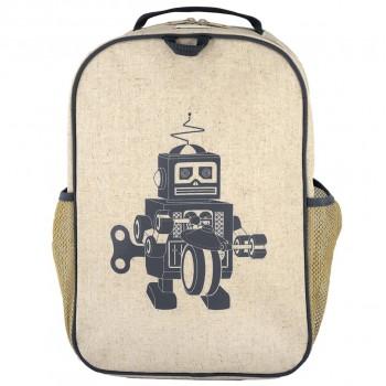 Sac À Dos Pour L'école - Robot Gris - Soyoung