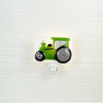 Veilleuse - Tracteur Vert - Veille Sur Toi