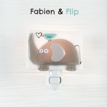 Veilleuse - Fabien & Flip éléphant - Veille Sur Toi