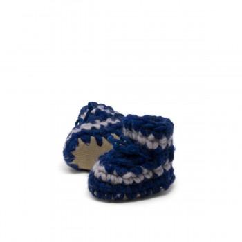 Pantoufles - Nouveau-né - Bleu Denim - Padraig