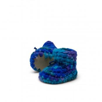 Pantoufles - Nouveau-né - Bleu Multi - Padraig