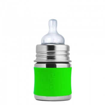 Biberon Pura Vert/acier Inoxydable 3 À 5oz (100 à 150ml)