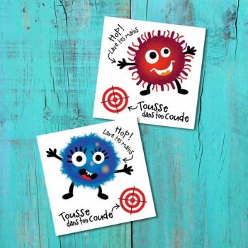 Tatouage Temporaire - L'attaque De Microbes