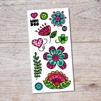 Tatouage Temporaire - Vive Les Fleurs - Pico