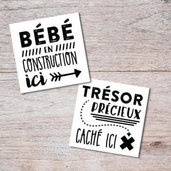 Tatouage Temporaire - Bébé En Construction- Pico