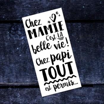 Tatouage Temporaire - Chez Mamie Et Papi -pico