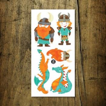 Tatouage Temporaire - Vikings et Dragons - Pico