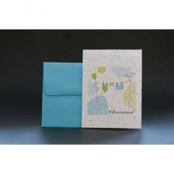 Carte De Souhait - Félicitations (bleu) - Wishbuds