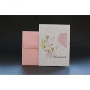 Carte De Souhait - Félicitations (rose) - Wishbuds