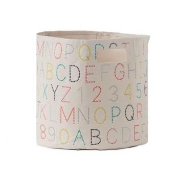 Panier De Rangement - Alphabet Multi - Moyen - Pehr