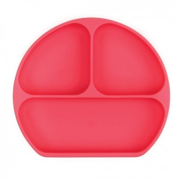 Assiette à suction en silicone - Rouge - Bumkins