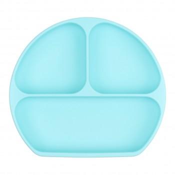 Assiette à Suction En Siliconne - Bleu - Bumkins