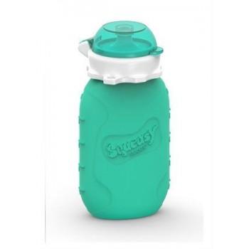 Pochette pour Aliments réutilisable Squeasy 6oz - Aqua