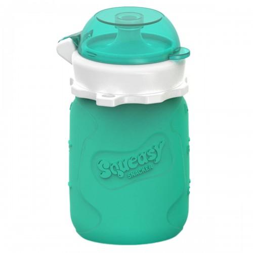 Pochette pour Aliments réutilisable Squeasy 3.5oz - Aqua