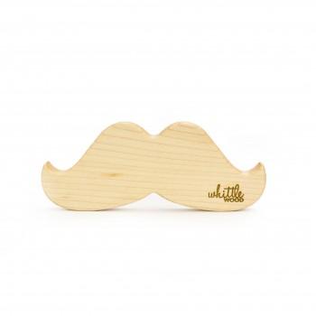 Jouet de Dentition en Bois - Moustache - Whittle Wood