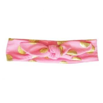 Bandeau de Tête 3-13m - Rose Pois Or - Baby Wisp