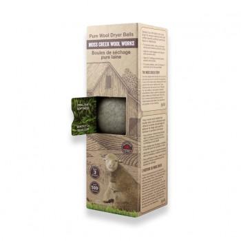 Boules de Séchage Pure Laine 3/pqt - Gris - Moss Creek Wool Works