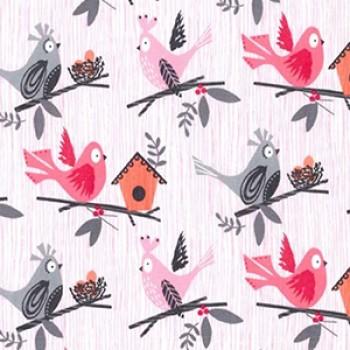 Napperon - #148 Oiseau/rose - Oops