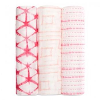 Couverture Bambou 3/pqt - Berry Shibori - Aden+anais