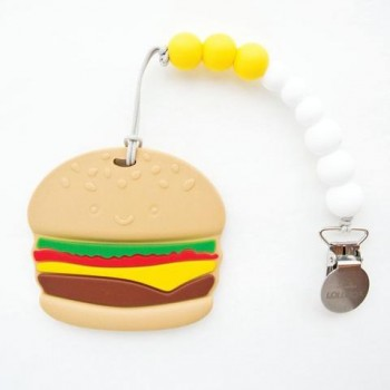Attache Suce Et Jouet De Dentition Burger - Loulou Lollipop
