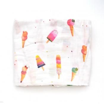 Couverture en bambou - Crème Glacer - Loulou Lollipop