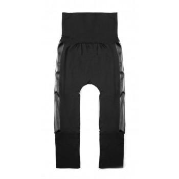 Pantalon évolutif (0-12m) Noir Bande de Cuir - Coton Vanille