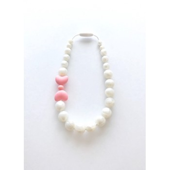 Collier Fillette - Boucle Rose - Jululu