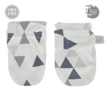 Mitaines Anti-égreatignures Bambou - Triangles - Perlimpinpin