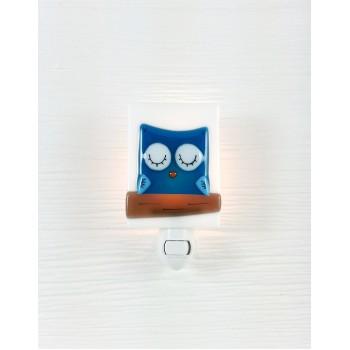 Veilleuse - Hibou Bleu - Veille Sur Toi