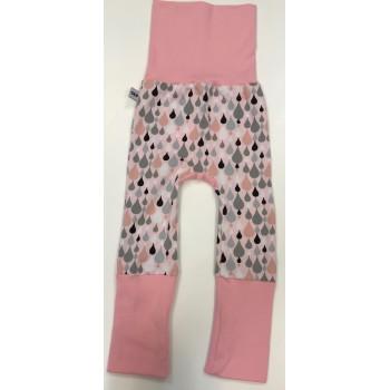 Pantalon Évolutif 6-36m - Pluie Rose - G&B