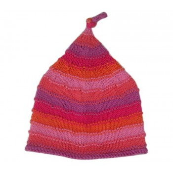 Bonnet en Tricot Rose 0-6m - Pebble