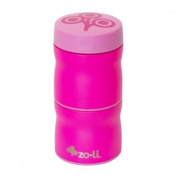 Thermos à double récipients - Pow This & That Rose - Zoli