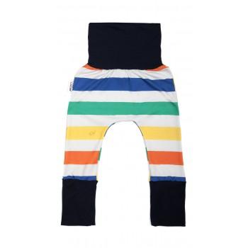 Pantalon Évolutif (6-36m) Lignes Colorées - Coton Vanille