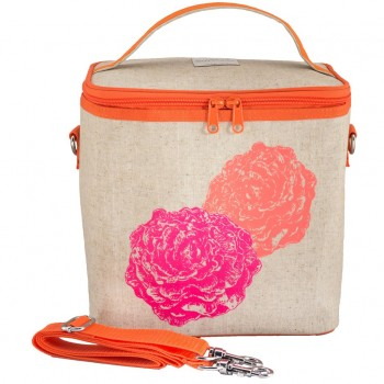 Sac à Lunch Grand - Pivoines Roses - Soyoung