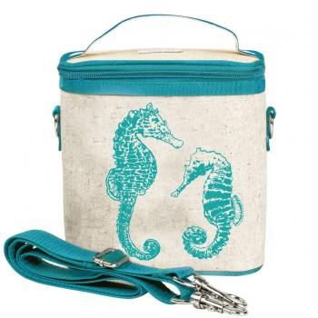 Sac à Lunch Grand - Hippocampe Turquoise - Soyoung