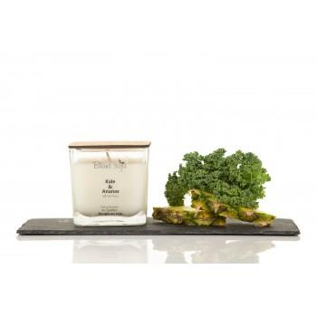 Bougie Au Soja 420ml - Kale Et Ananas - Blanc Soja