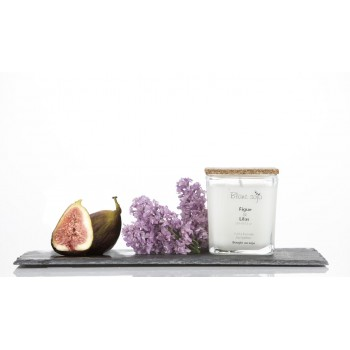 Bougie Au Soja 220ml - Figue & Lilas - Blanc Soja