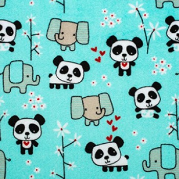 Doudou Étiquette Minky - Panda - Oops