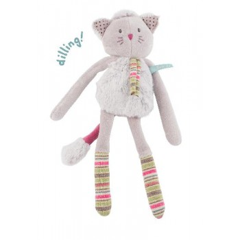 Toutou hochet Pachats 28cm - chat gris- Moulin Roty