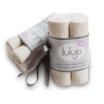 Débarbouillette en Coton Bio 4/pqt - Lulujo