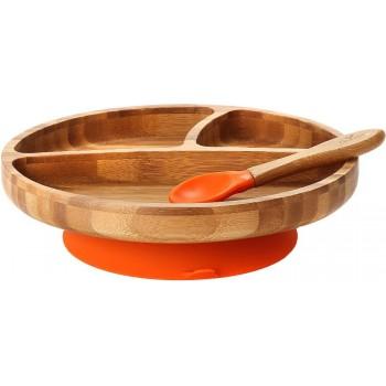 Assiette et Cullière Orange - Enfant - Avanchy