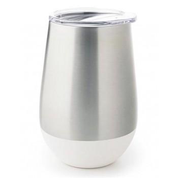 Verre Isotherme En Inox 12oz - Blanc - U-konserve