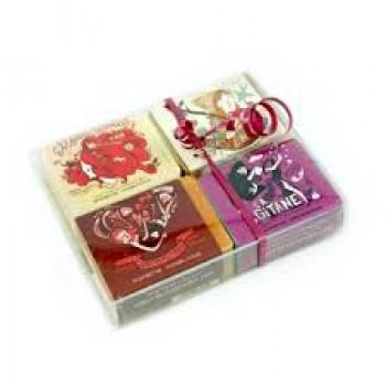 Étoile: Boîte Cadeau 4 Savons avec Légendes - Savonnerie des Diligences