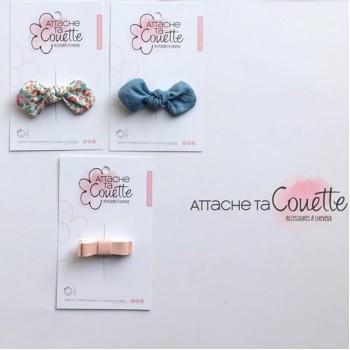 Barrette Noeud Tissus - Attache Ta Couette
