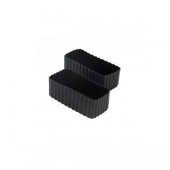 Bento Contenant Rectangulaire 2/pqt - Noir - Little Lunch Box